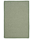 RugStudio presents Colonial Mills Outdoor Houndstooth Tweed Ot68 Leaf Green Braided Area Rug